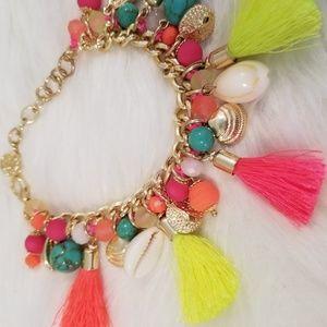 Lilly Pulitzer Tassel Charm Bracelet